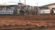 Stock Video Footage of Rodeo cowgirl USA Flag horse M HD