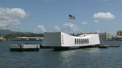 USS Arizona Pearl Harbor Honolulu Hawaii closer M HD Stock Footage