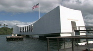 Stock Video Footage of USS Arizona close entrance Pearl Harbor Hawaii M HD