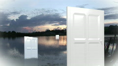 Multiple Doors Stock Footage