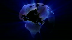 Globe Rotating Stock Footage
