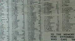 USS Arizona Memorial names Pearl Harbor Hawaii pan M HD Stock Footage
