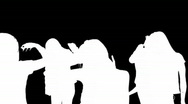 Animation of Teenagers Dancing  Stock Footage
