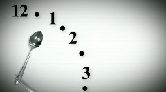 Dinnertime Clock Seamless Stock Footage