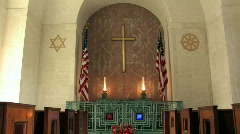 National Cemetery of Pacific chapel M HD Stock Footage