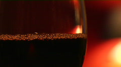 Red wine into glass - stock footage