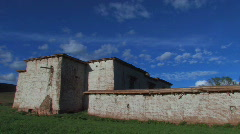 Typical Tibetan style house in Kham, Tibet Stock Footage