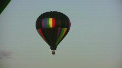 Hot air balloon ride Stock Footage