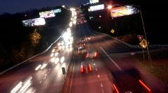 Dark Highway Time Lapse Stock Footage