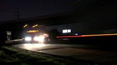 Highway Corner Time Lapse Stock Footage