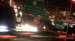 Highway Close Up - Time Lapse Stock Footage
