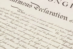 Declaration of Independence - 20 seconds - stock footage