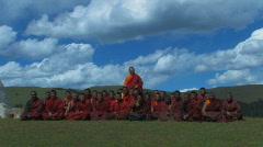 Tibetan Monks Stock Footage