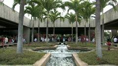 USS Arizona Memorial visitor center M HD Stock Footage