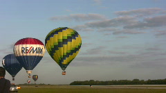 Hot air balloon race Stock Footage