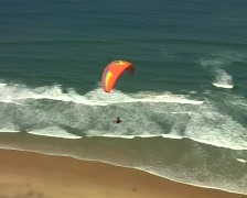 Para Gliding along the portuguese westcoast Stock Footage