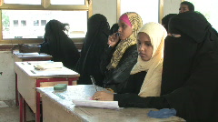 Students in clas in Yemen - stock footage