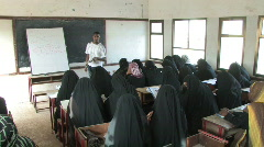 Man teaches English to a group of women in Yemen - stock footage