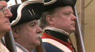 Stock Video Footage of Revolutionary War Soldiers at Attention 2 of 2
