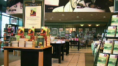 Bookstore and cafe Stock Footage