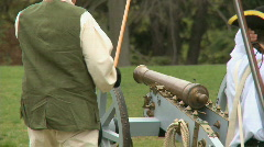 Revolutionary War Battlefield Canon Fire Stock Footage