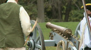 Stock Video Footage of Revolutionary War Battlefield Canon Fire