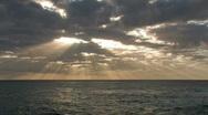 Hawaiian sunset rays Hawaii ocean M HD Stock Footage