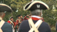 Stock Video Footage of Revolutionary War Battlefield Weapons Fire (3 Scenes)