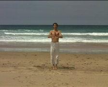 Yoga sungreeting Stock Footage