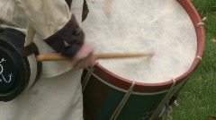 Revolutionary War Drummer Boy Stock Footage