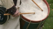 Stock Video Footage of Revolutionary War Drummer Boy