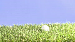 approaching golfball 002 - stock footage