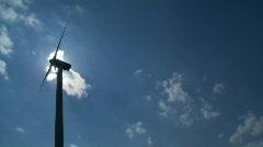 windmill backlight wide - stock footage