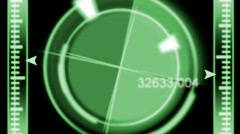 Motion ring background with blur - green HD loopable Stock Footage