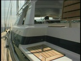 Stock Video Footage of Yacht in bay - steadycam