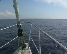 Yacht at sea - stock footage