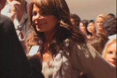 Paula Abdul Interviewed at Fashion Show Stock Footage