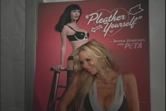 Jenna Jameson Posing by Poster Stock Footage