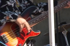 Bass to Lead guitars in concert Stock Footage