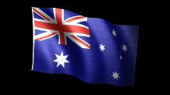 Australia Flag A Stock Footage