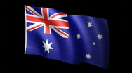 Australia Flag A Stock Footage
