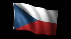 Czech Republic Flag A Stock Footage