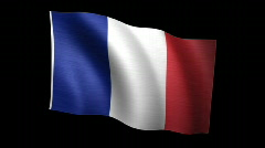 France Flag A Stock Footage