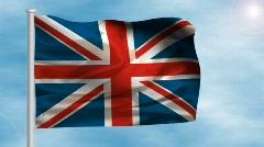 United Kingdom flag - digital animation Stock Footage