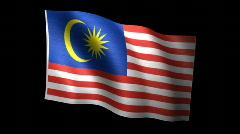 Malaysia Flag A Stock Footage