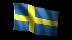 Sweden Flag A Stock Footage