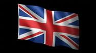 UnitedKingdom Flag A Stock Footage