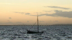Fishing boat in rough sea Stock Footage