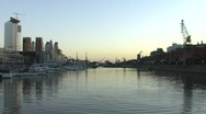 Stock Video Footage of Puerto Madero (Buenos Aires) in the evening