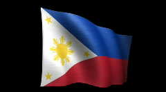 Philippines Flag B Stock Footage